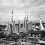 Ray Hamilton's boatyard in 1940